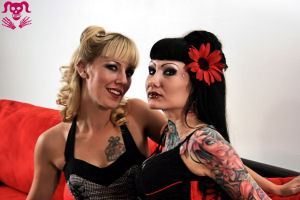 Models: Jessica Panic & Jess Cherry - Hair & Make Up: Jess Cherry - Jess Cherry's Tattoos: Clint Leifeste - His Ruin Photography 2010
