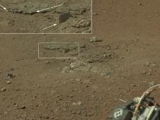 This color image from NASA&#39;s Curiosity<br /> rover shows an area excavated by the<br /> blast of the Mars Science Laboratory&#39;s<br /> descent stage rocket engines.<br /> Image credit: NASA/JPL-Caltech/MSSS<br /> <a href='http://www.nasa.gov/mission_pages/msl/multimedia/pia16052-color.html' class='bbc_url' title='External link' rel='nofollow external'> � Full image and caption</a>