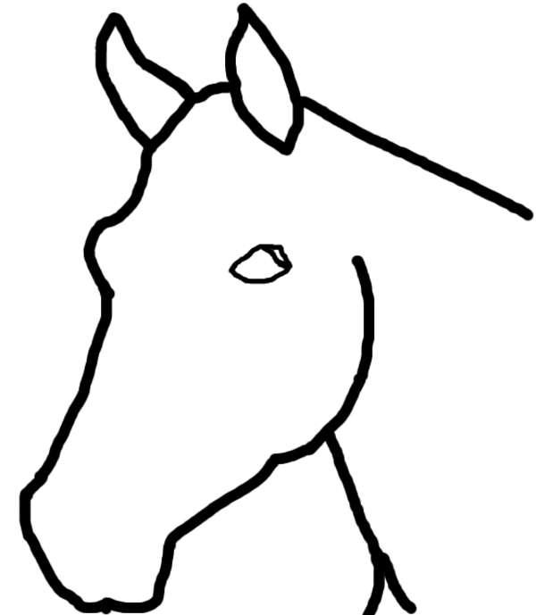 Tekening Paardenhoofd Kleurplaat Malvorlagen Zu Pferden Zum Drucken