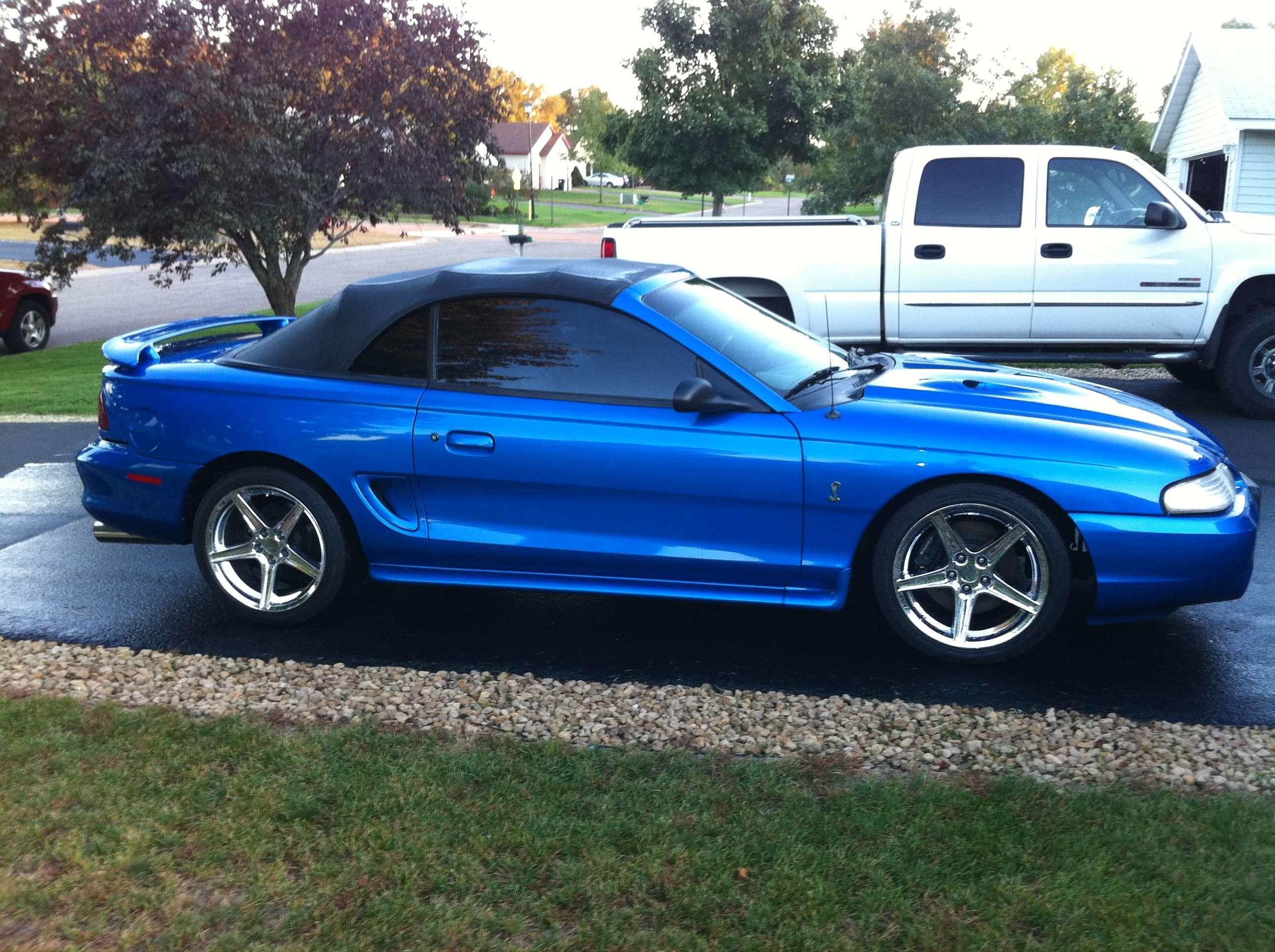 1998 Cobra Bright Atlantic Blue Convertible
