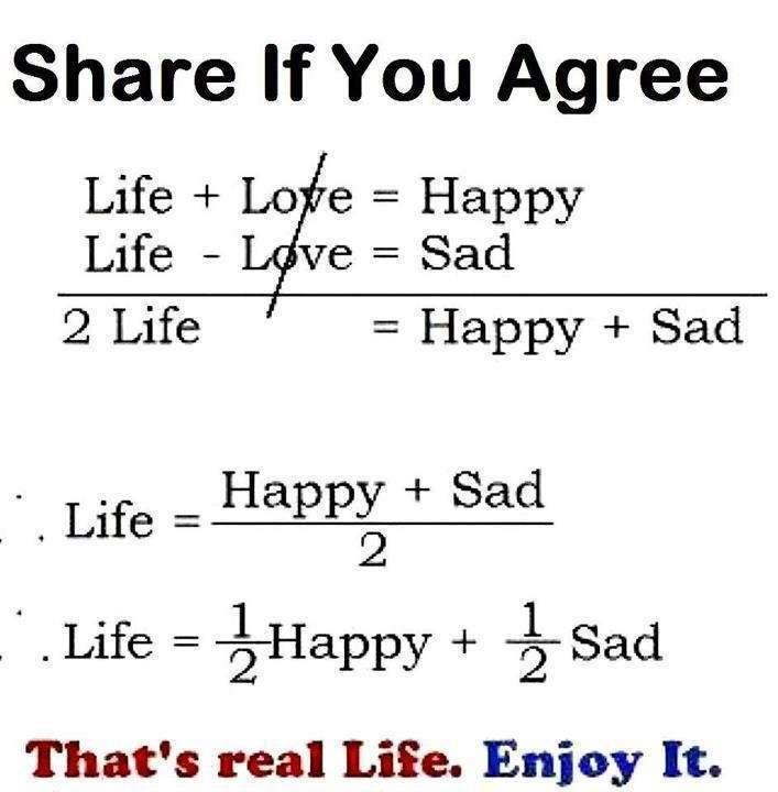Love Quotes About Life: Hayatın Matematiği